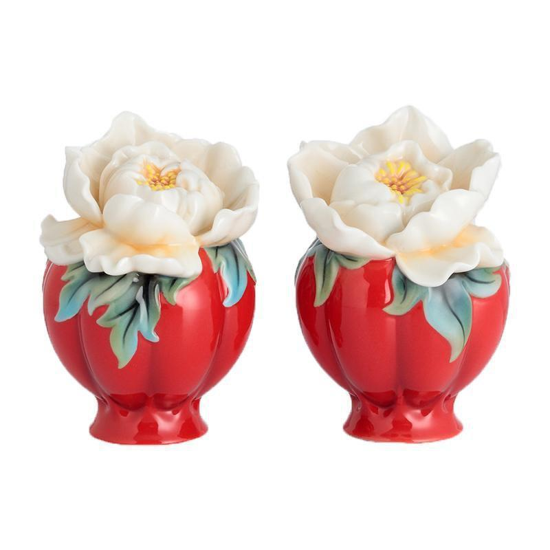 Franz Collection Venice Peony Salt n Pepper Shakers FZ02733