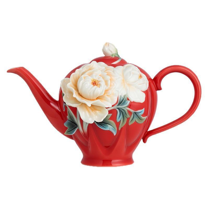 Franz Collection Venice Peony Teapot FZ02703