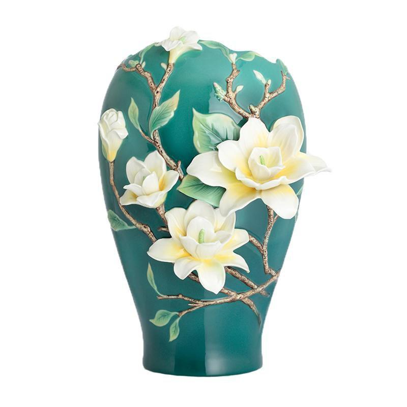 Franz Collection Yellow Magnolia Large Vase FZ02887
