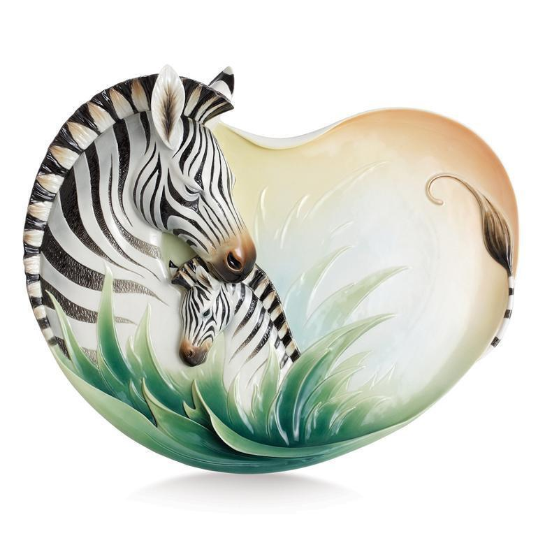 Franz Collection Zebra Ornamental Platter FZ02348