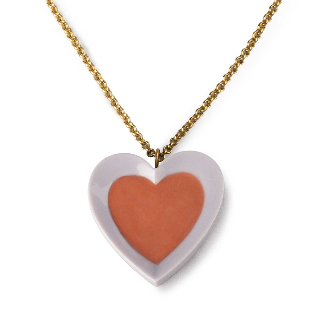 Lladro Hearts Pendant Violet & Red 01010270