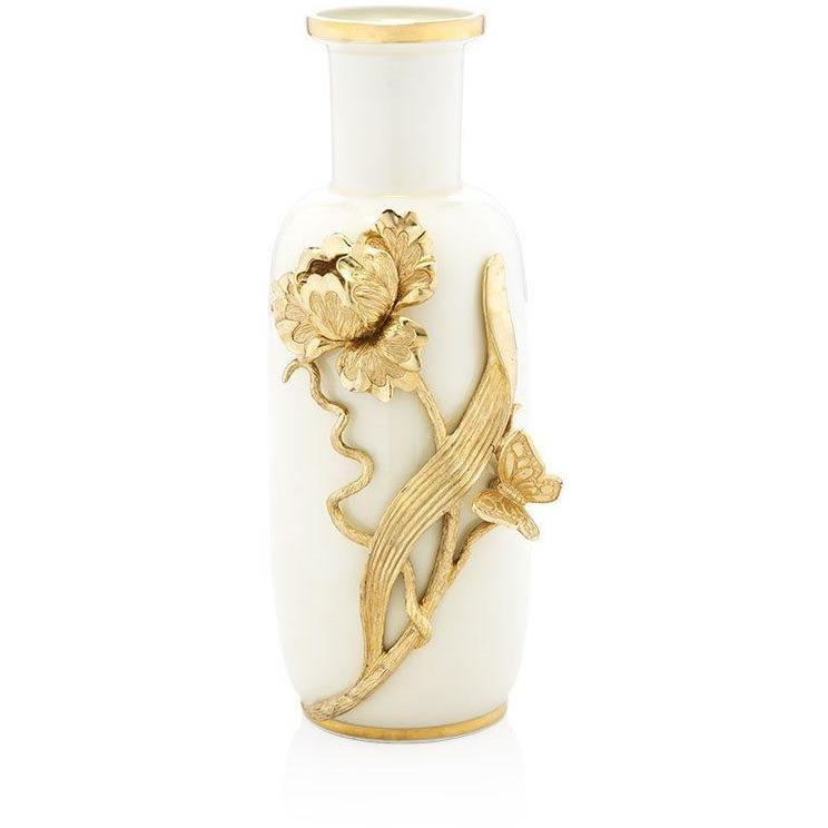 Jay Strongwater Addilyn Tulip & Butterfly Vase SDH2485-292