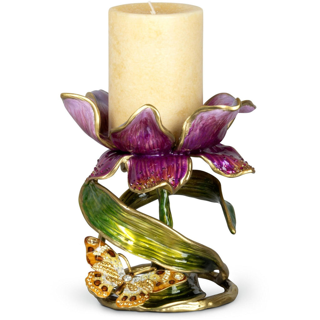 Jay Strongwater Aimee Floral Pillar Candle Holder SDH2370-456