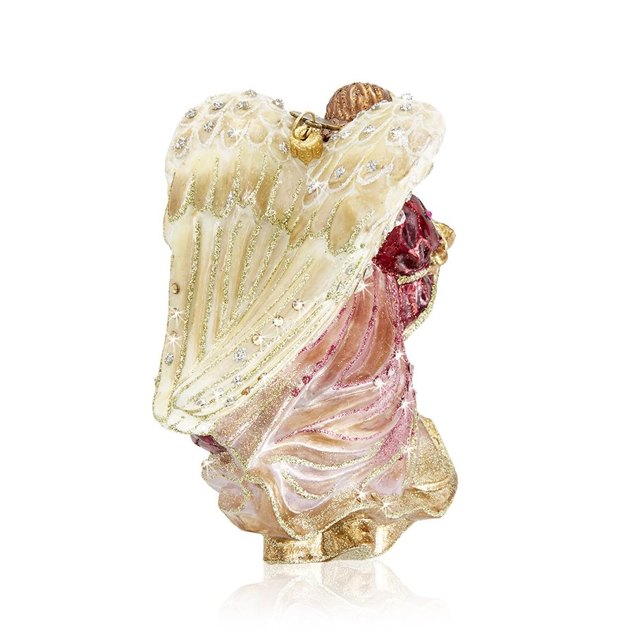 Jay Strongwater Angel With Harp Glass Ornament SDH20009-216