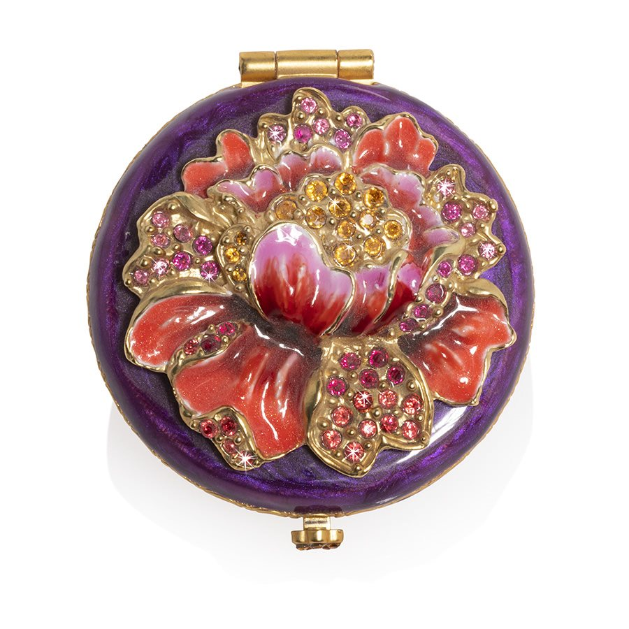 Jay Strongwater Angela Floral Round Compact SCB8076-289