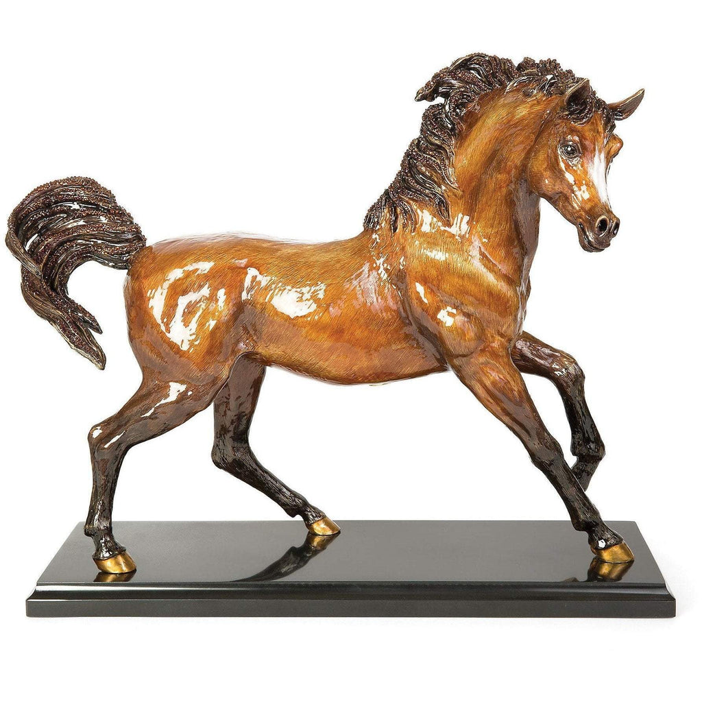 Jay Strongwater Ashab Arabian Horse Figurine Natural SDH1896-280