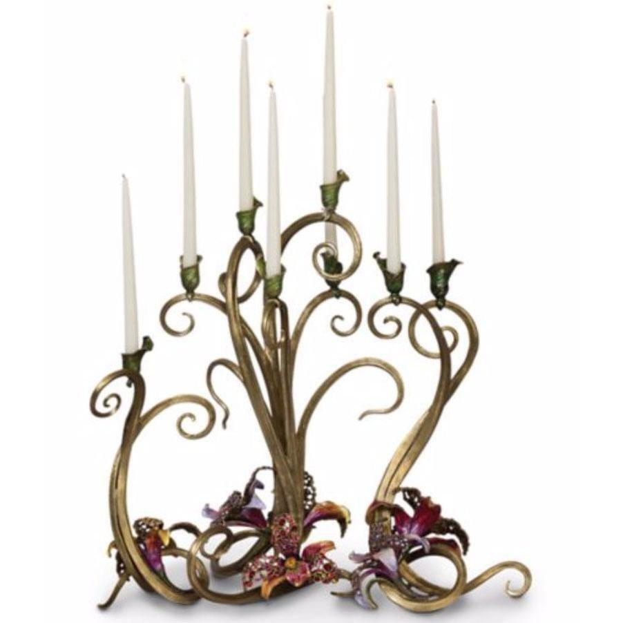 Jay Strongwater Aubree Orchid Candelabra SDH2424-456