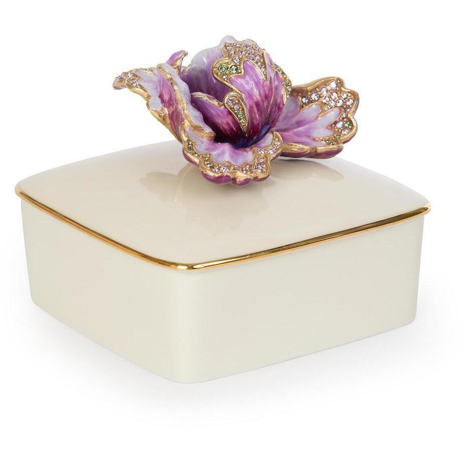Jay Strongwater Bailey Tulip Porcelain Box Flora SDH7355-256
