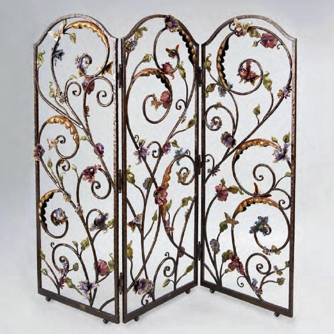 Jay Strongwater Celeste Floral Wall Screen SHW3255450