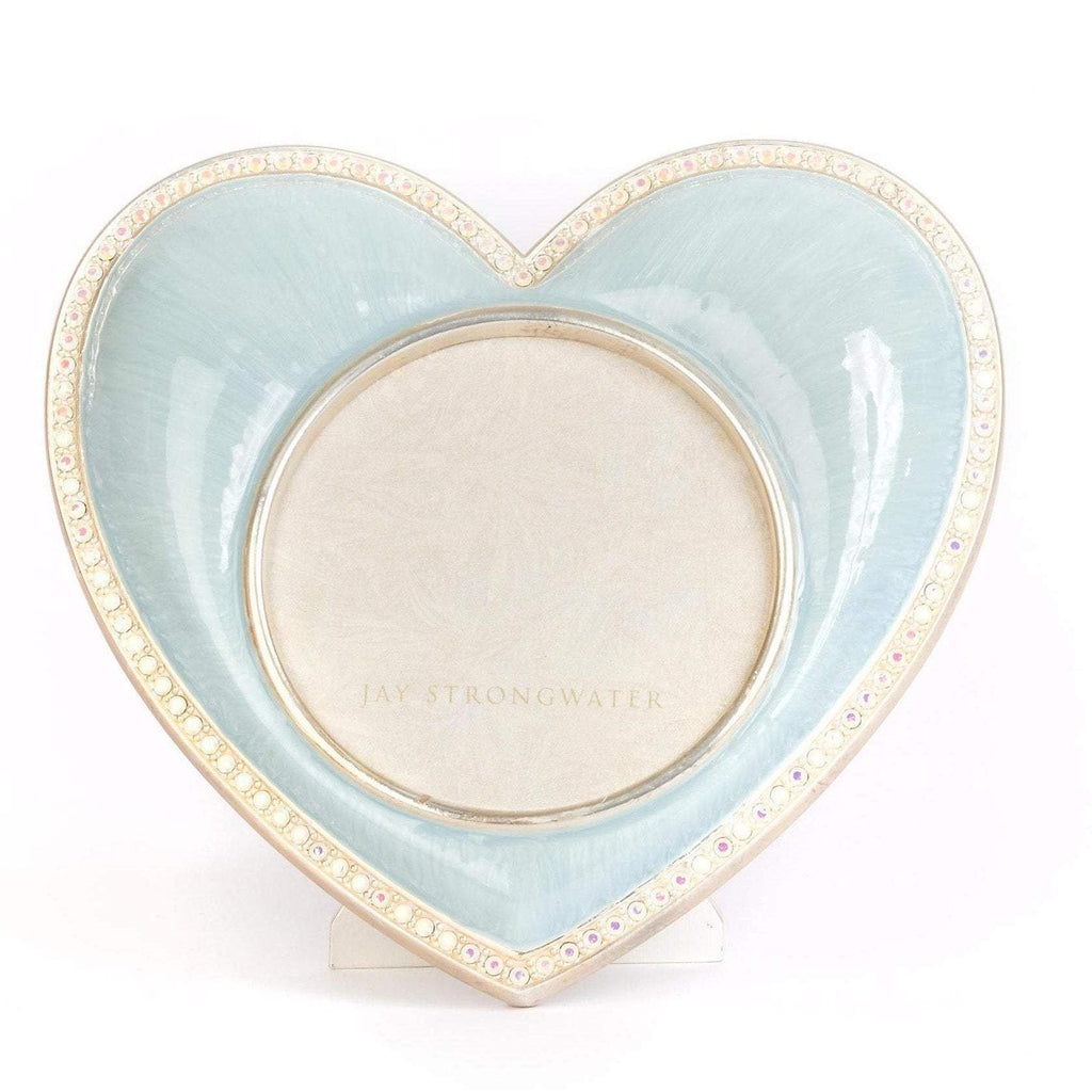 Jay Strongwater Chantal Heart Frame Pale Blue SPF5809-625