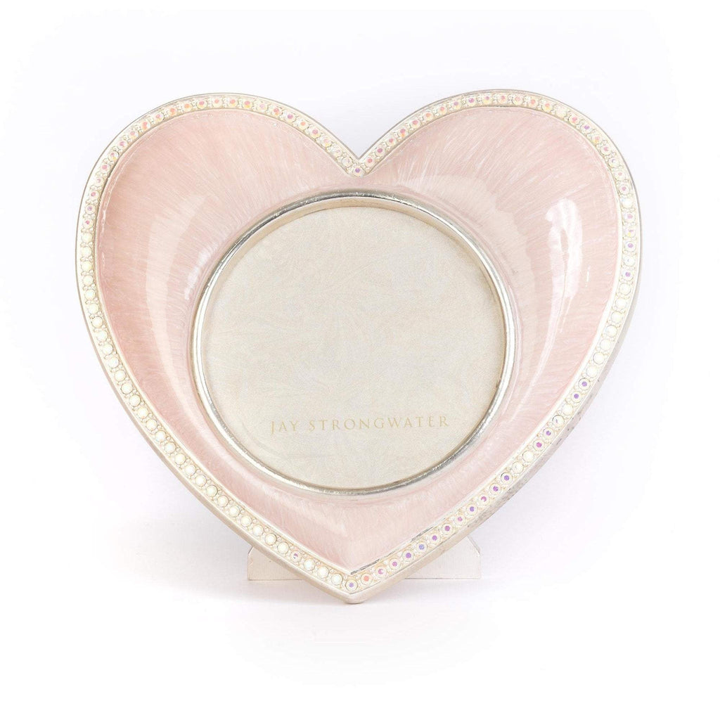 Jay Strongwater Chantal Heart Frame Pale Pink SPF5809-606