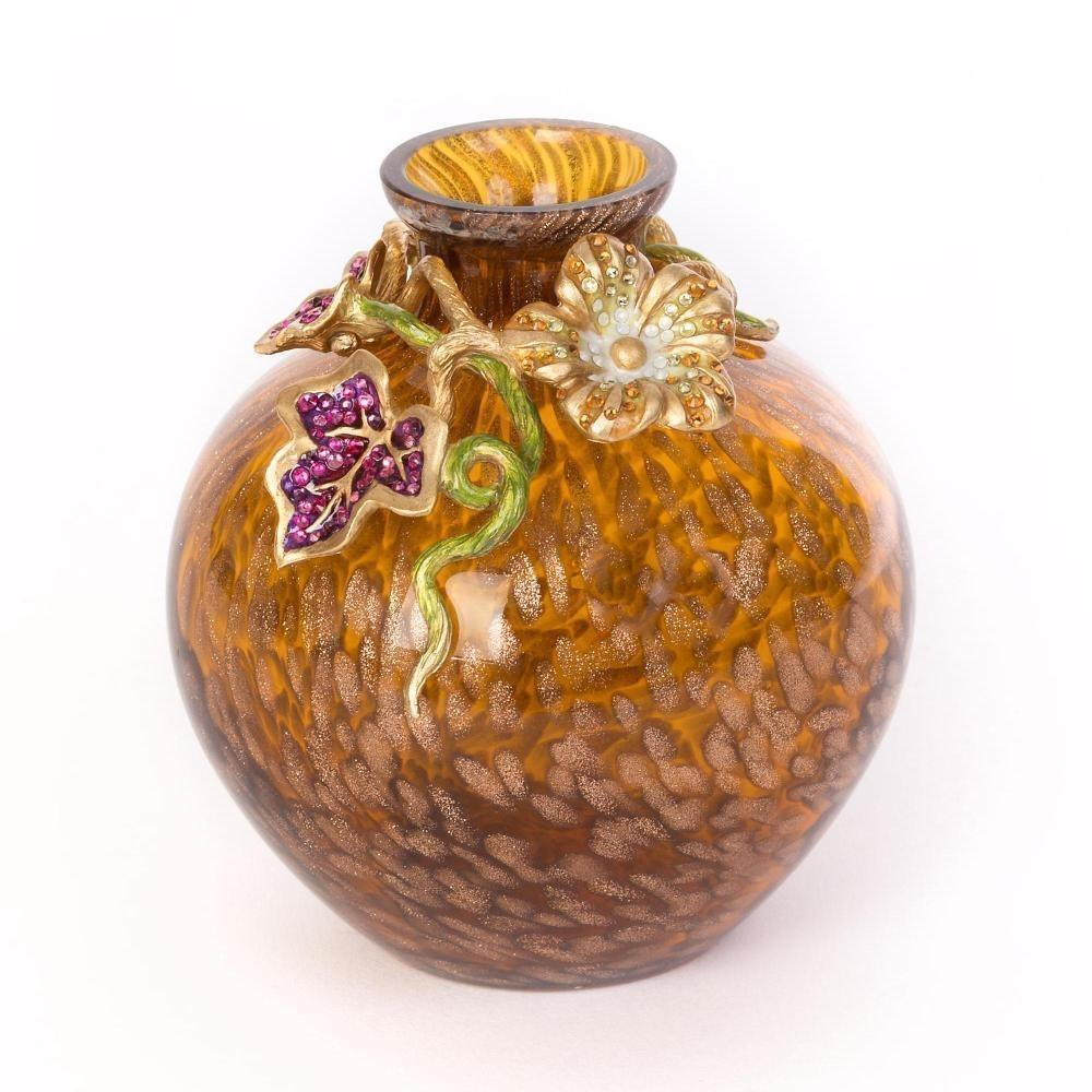 Jay Strongwater Cleo Leaf & Flower Mini Vase Bouquet SDH6622-289