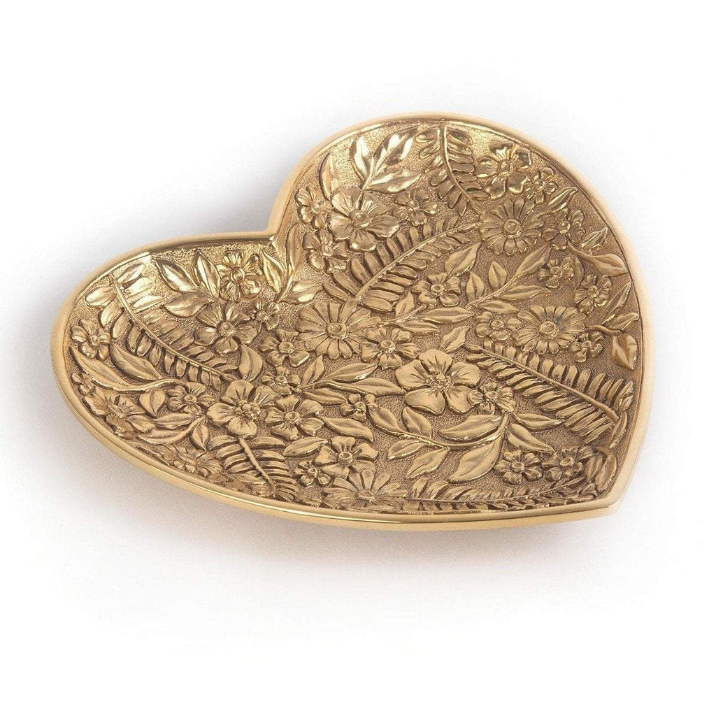Jay Strongwater Colleen Floral Heart Trinket Tray SDH6625-292