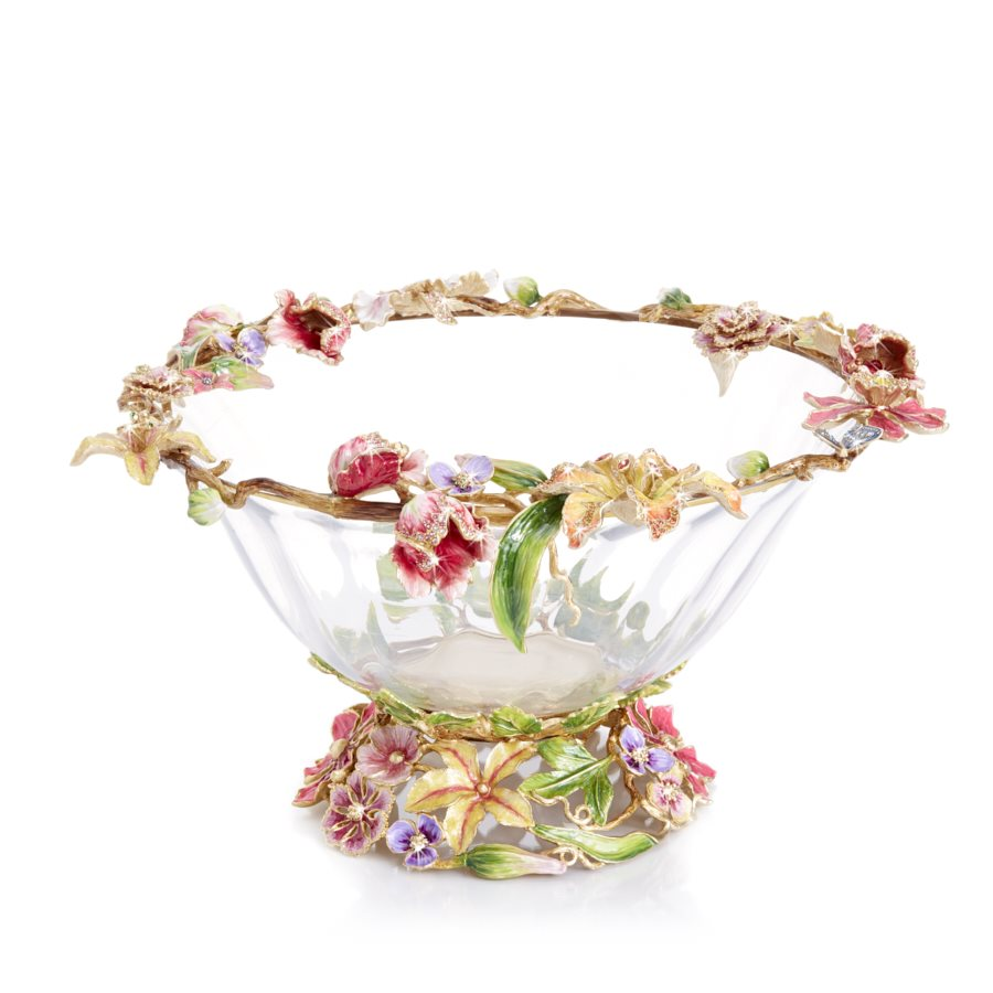 Jay Strongwater Cornelis Dutch Floral Glass Bowl SDH2545-256