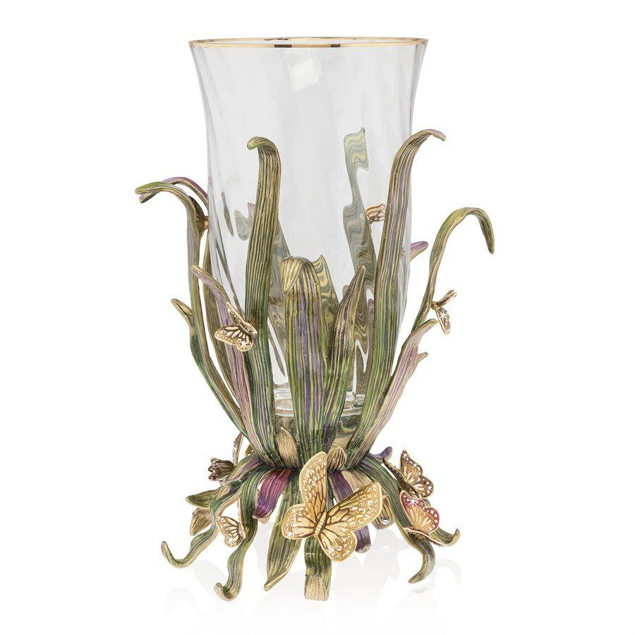Jay Strongwater Elva Butterfly and Leaf Vase SDH2517-289