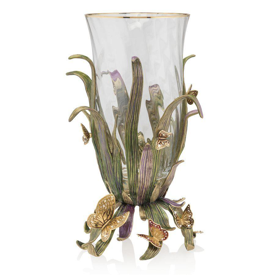 Jay Strongwater Elva Butterfly and Leaf Vase SDH2517-291