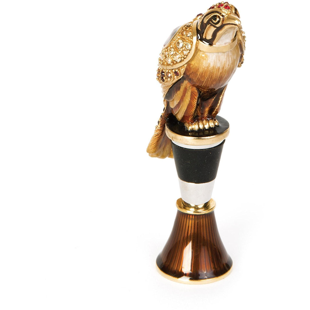 Jay Strongwater Epsen Falcon Wine Stopper & Stand Natural SDH6616-280