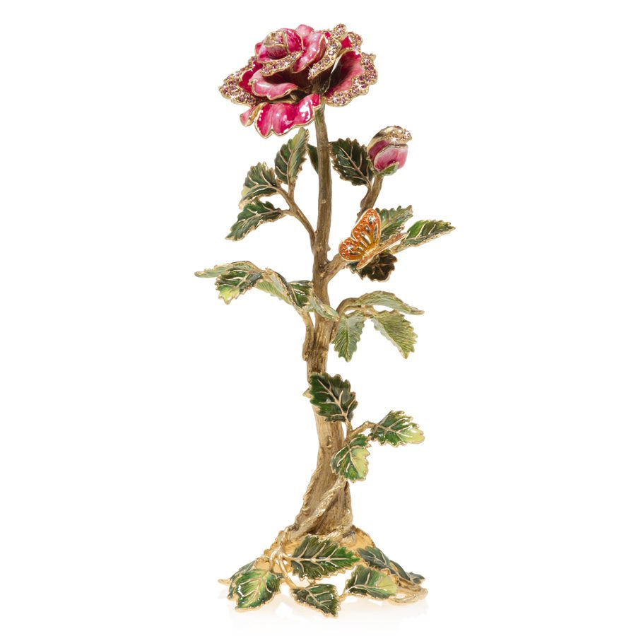 Jay Strongwater Eternity Rose Objet Figurine SDH1936-258