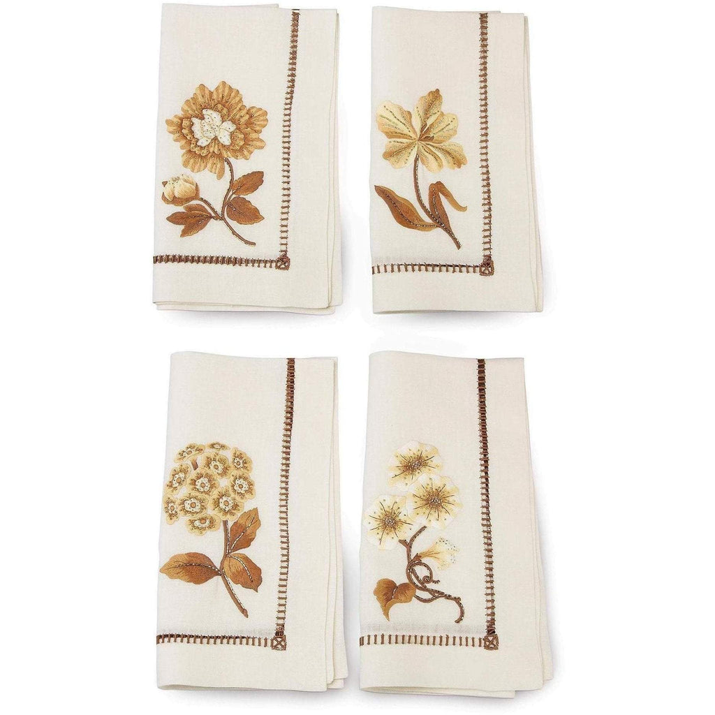 Jay Strongwater Floral Dinner Napkins Set Of 4 SDH2421-232