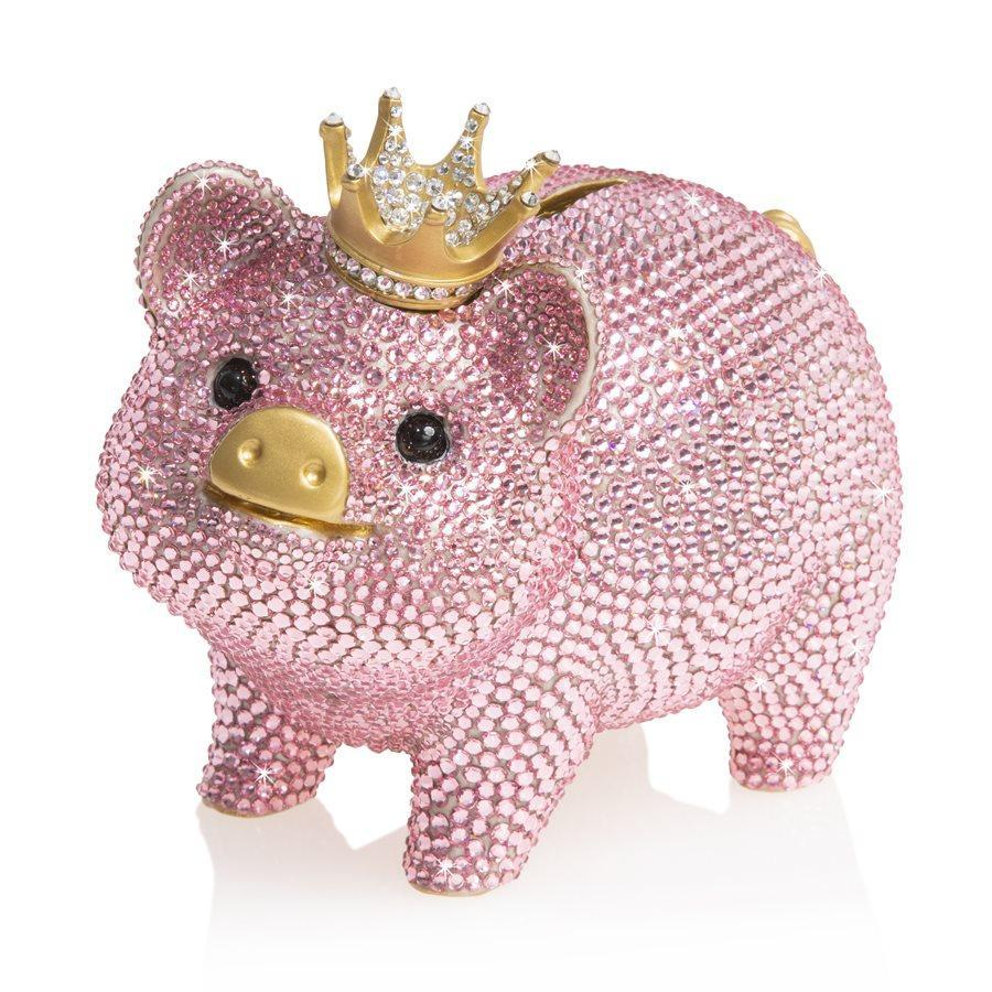 Jay Strongwater Gatsby Pave Piggy Bank Figurine SDH6653-206