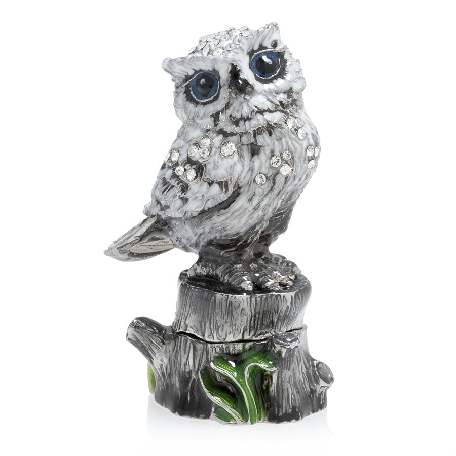Jay Strongwater Hedwig Owl Figurine Box SDH7403-614