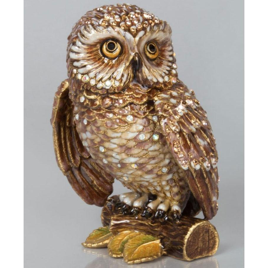 Jay Strongwater Hildy Owl Figurine SDH1833-280