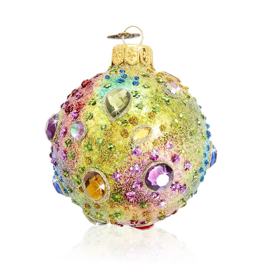 "Jay Strongwater Jeweled 3"" Glass Ornament SDH20003-250"