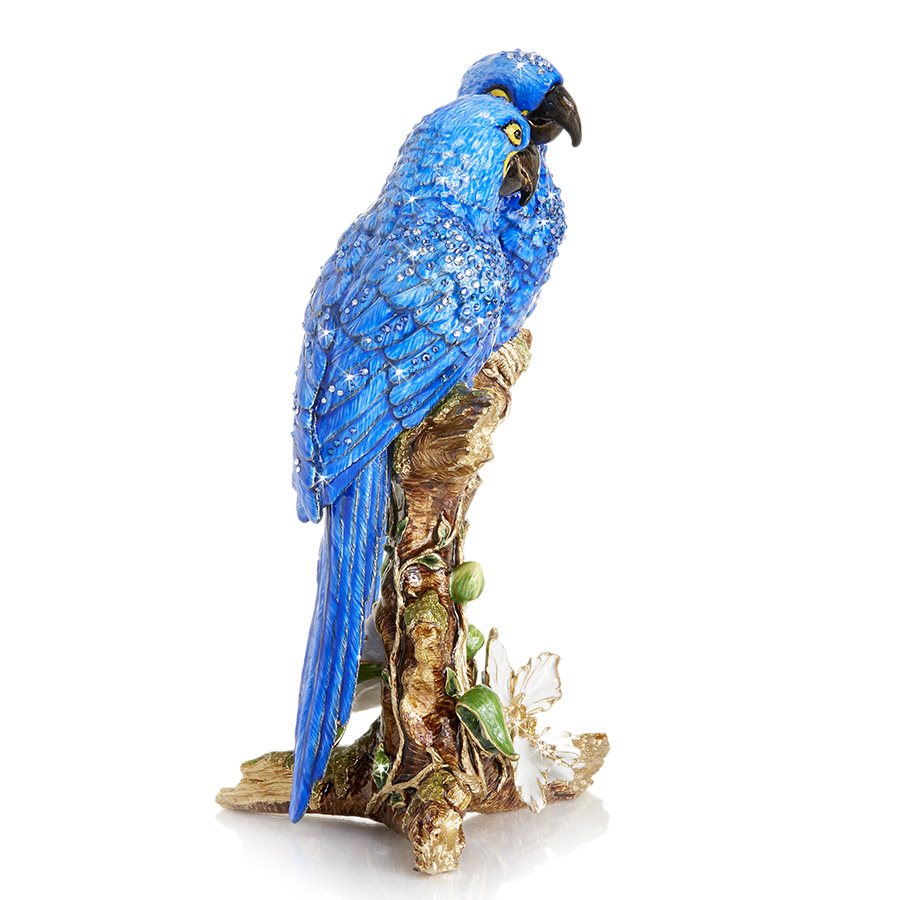 Jay Strongwater Julie & Blaze Macaws on Branch Figurine SDH1942-228