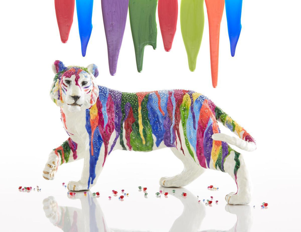Jay Strongwater Julius Rainbow Tiger Figurine SDH1805-450