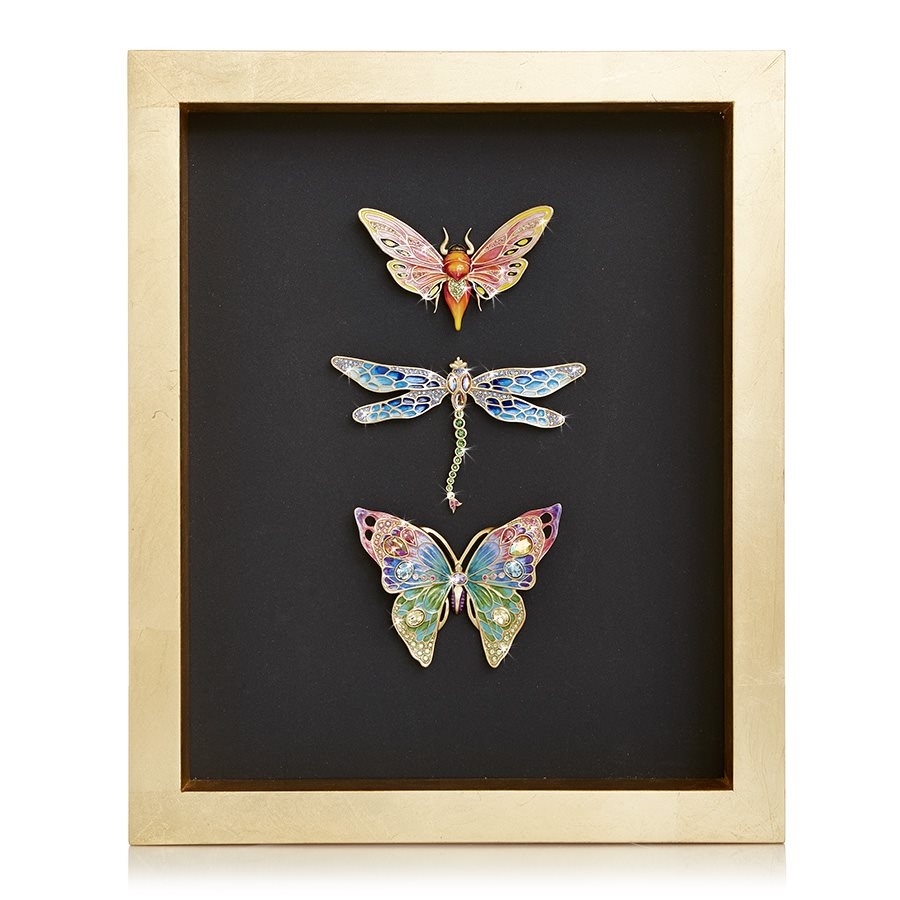 Jay Strongwater Kirby Butterfly Dragonfly Moth Wall Art SHW3328-250