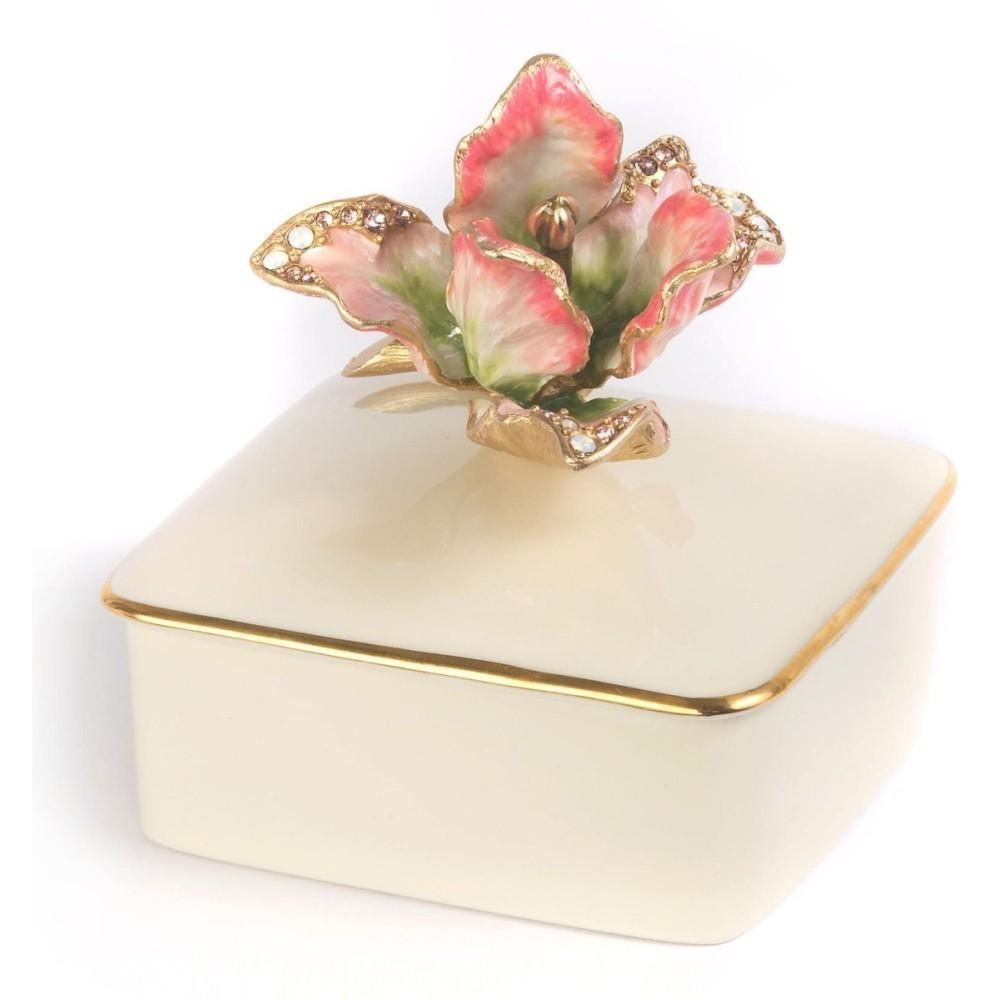 Jay Strongwater Lainey Tulip Porcelain Box SDH7361-272