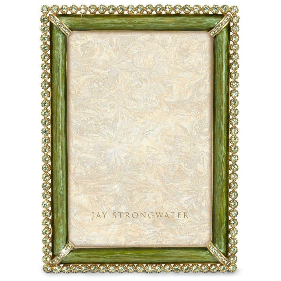 Jay Strongwater Lorraine  Stone Edged Frame Green SPF5510229