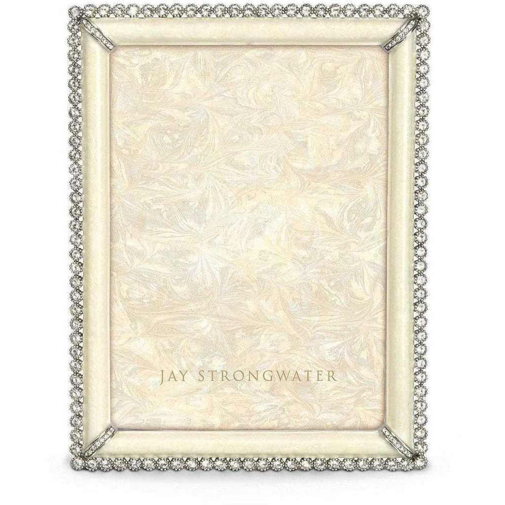 Jay Strongwater Lucas Stone Edge Frame Crys/Prl SPF5511605