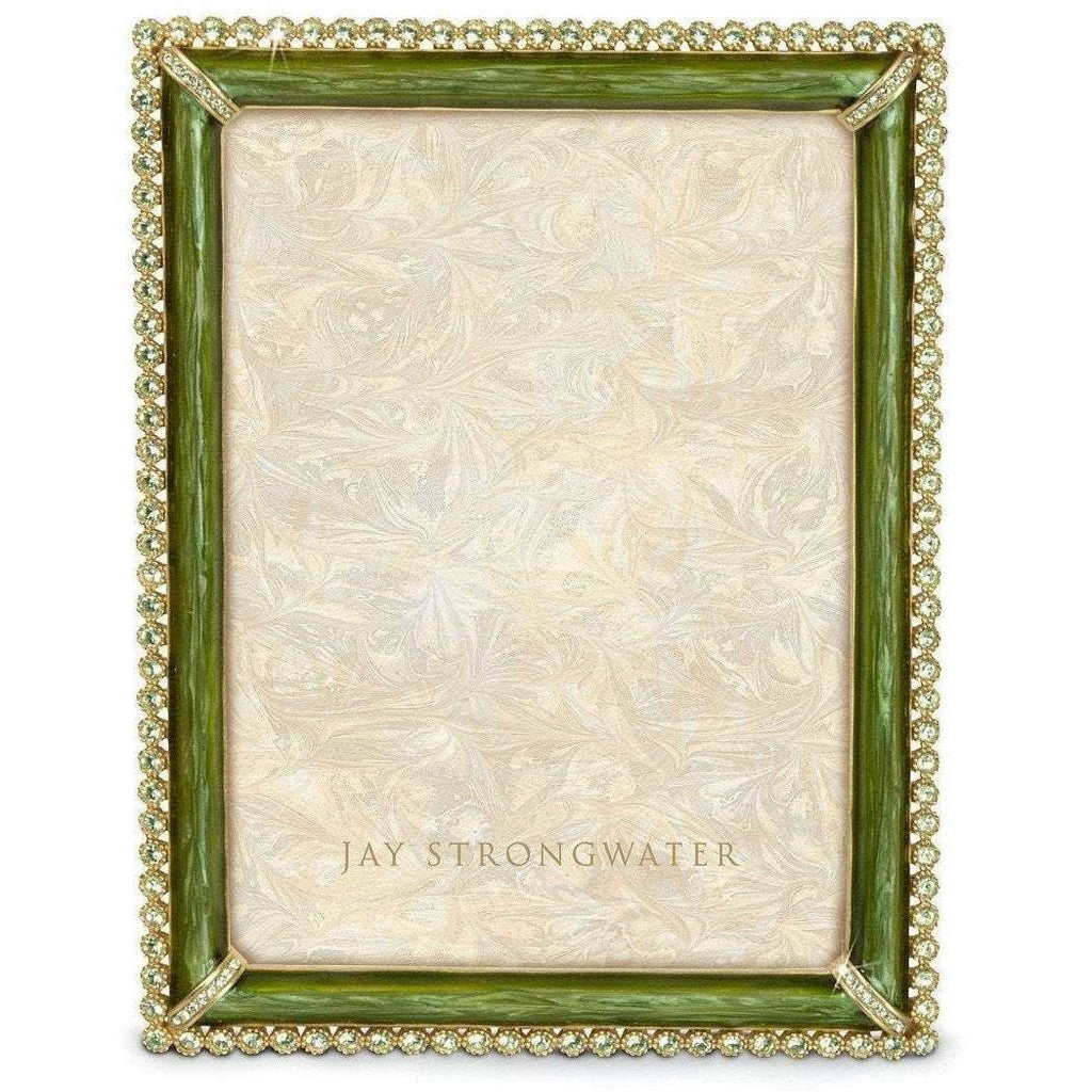 Jay Strongwater Lucas Stone Edged Frame Green SPF5511229