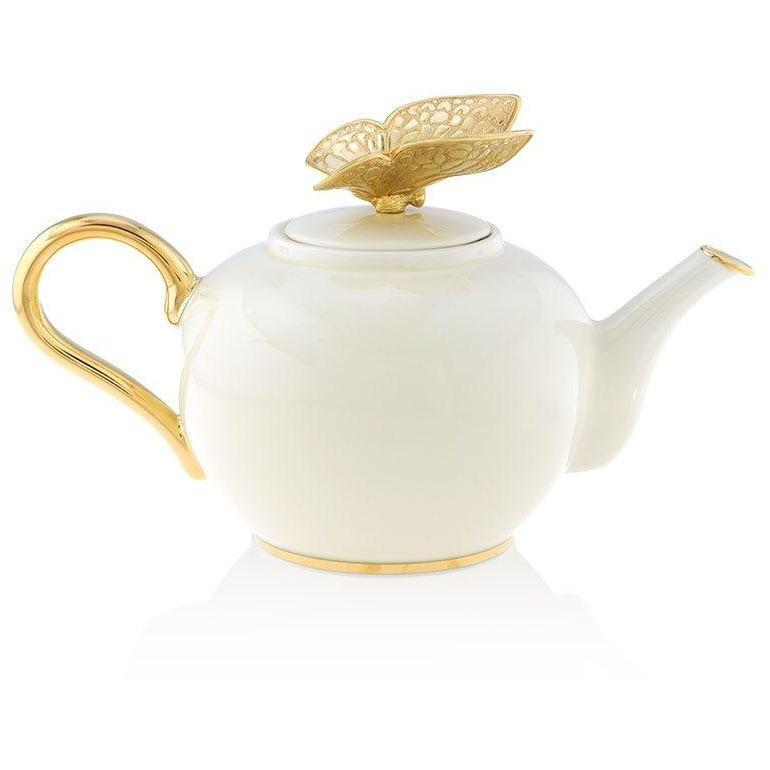 Jay Strongwater Mae Butterfly Teapot SDH2508-292