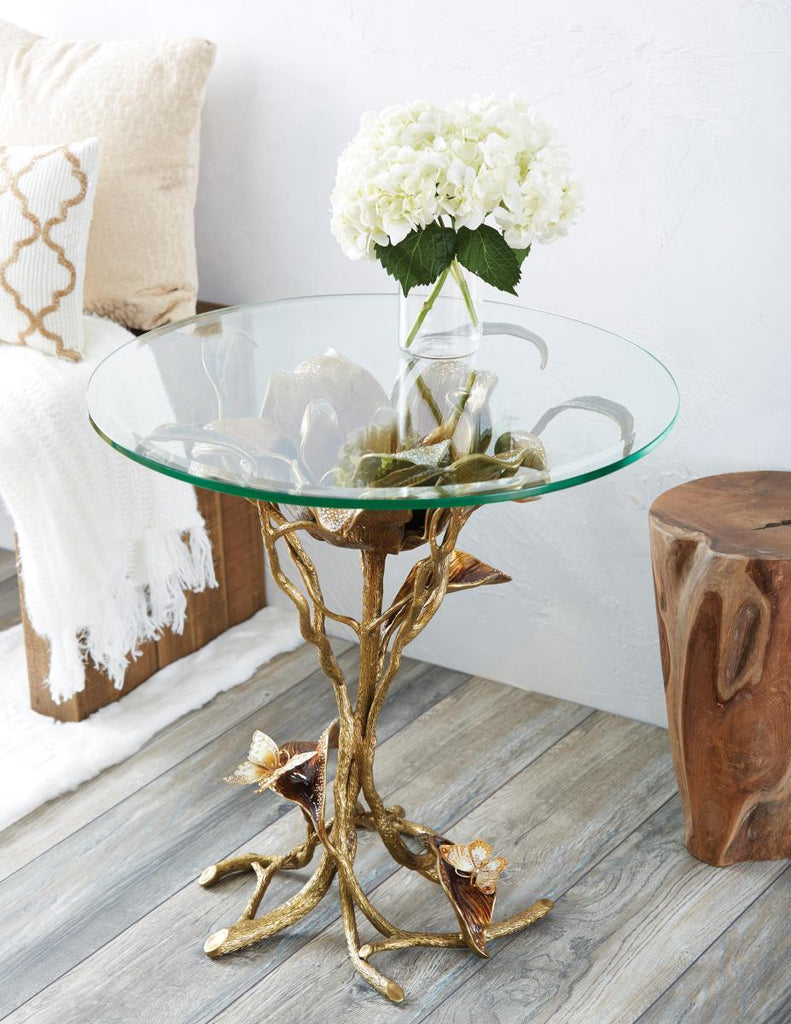 Jay Strongwater Marjorie Magnolia Table SHW3300-432