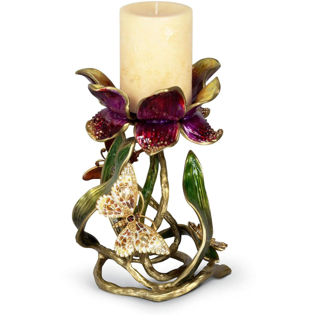 Jay Strongwater Meredith Floral Pillar Candle Holder SDH2371-456
