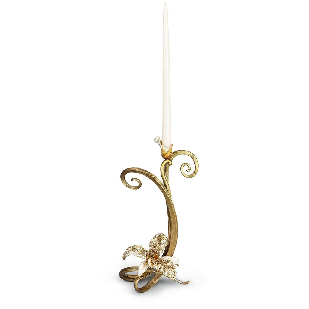 Jay Strongwater Mirabelle Orchid Single Candlestick SDH2357-232