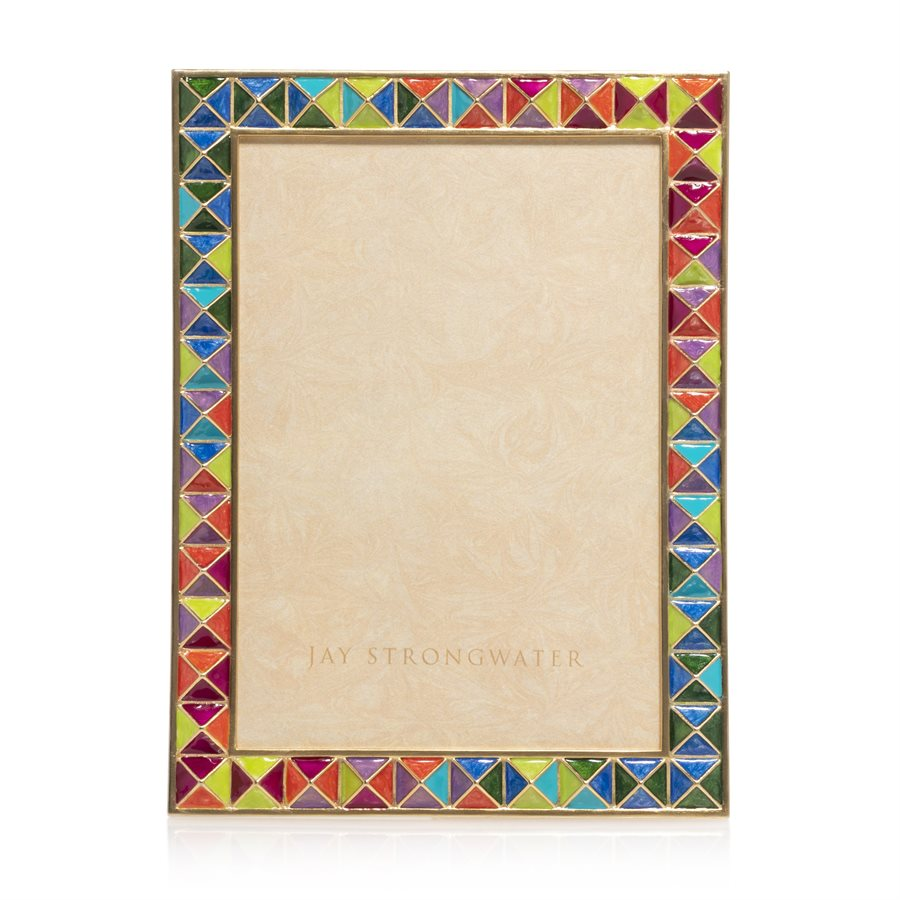 Jay Strongwater Mosaic Pyramid Large Frame SPF5877-202