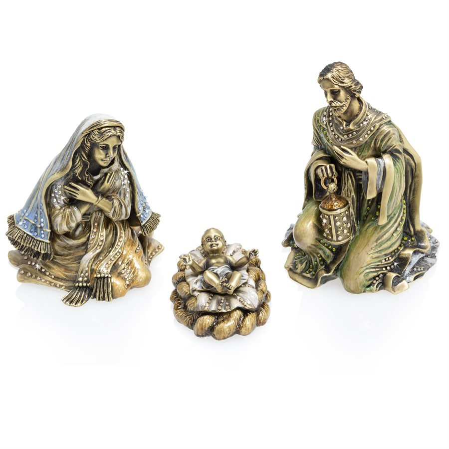 Jay Strongwater Holy Family Figurine Set SDH1880-485