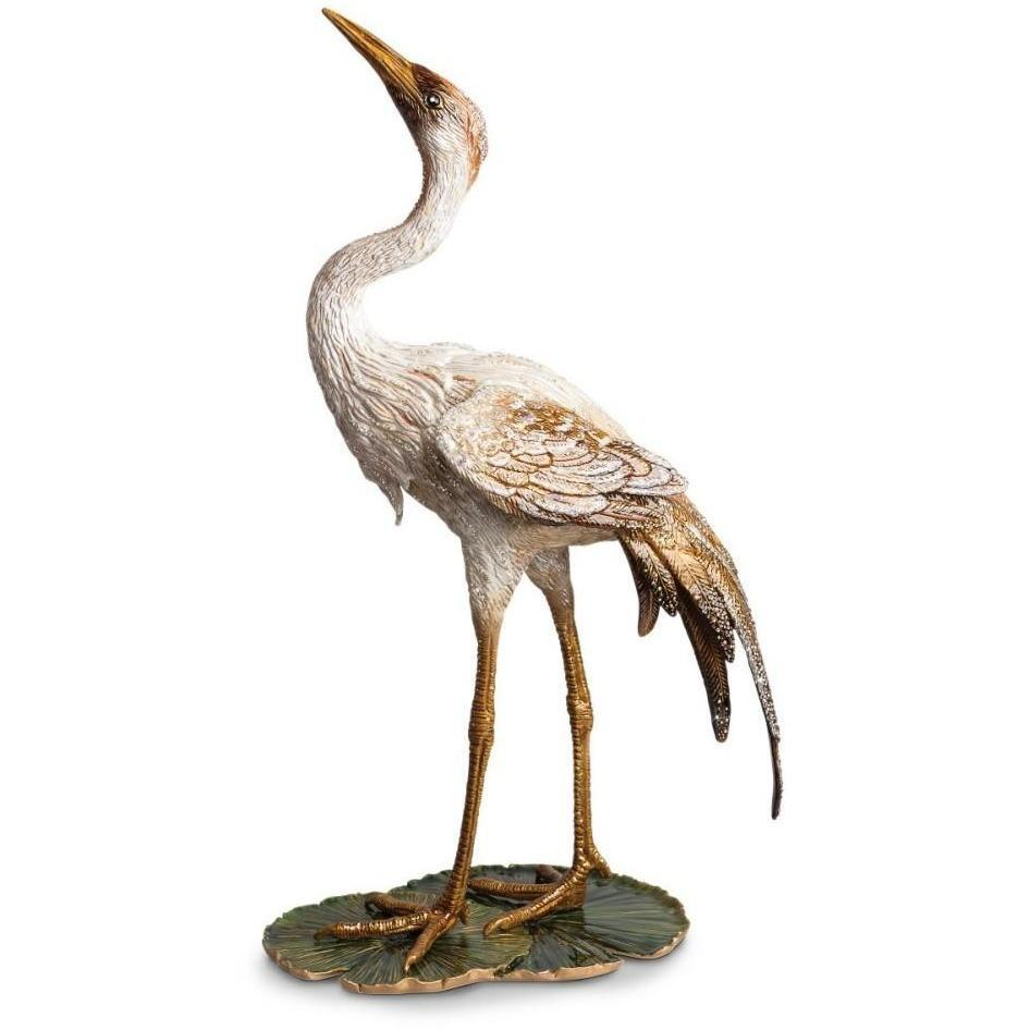Jay Strongwater Nelson Crane on Lily Pad Figurine SDH1884-280