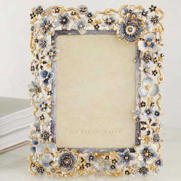Jay Strongwater Ophelia Cluster Flower 5 X 7 Frame SPF5859-284