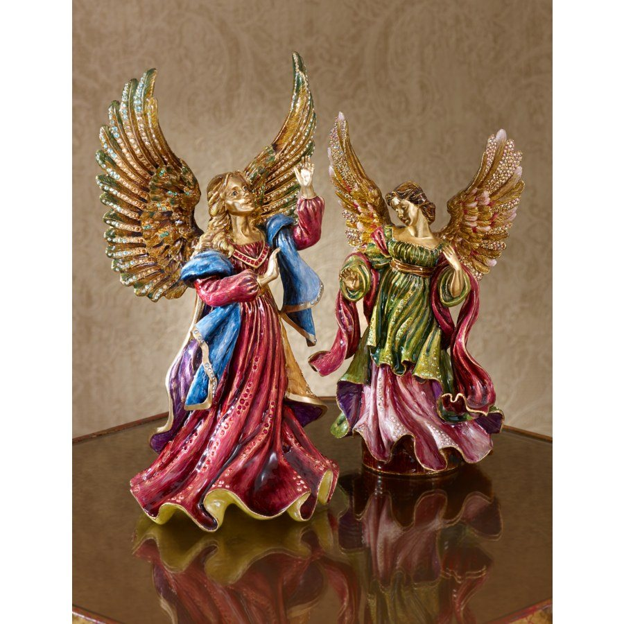 Jay Strongwater Rejoicing Angel Figurine SDH1773-250