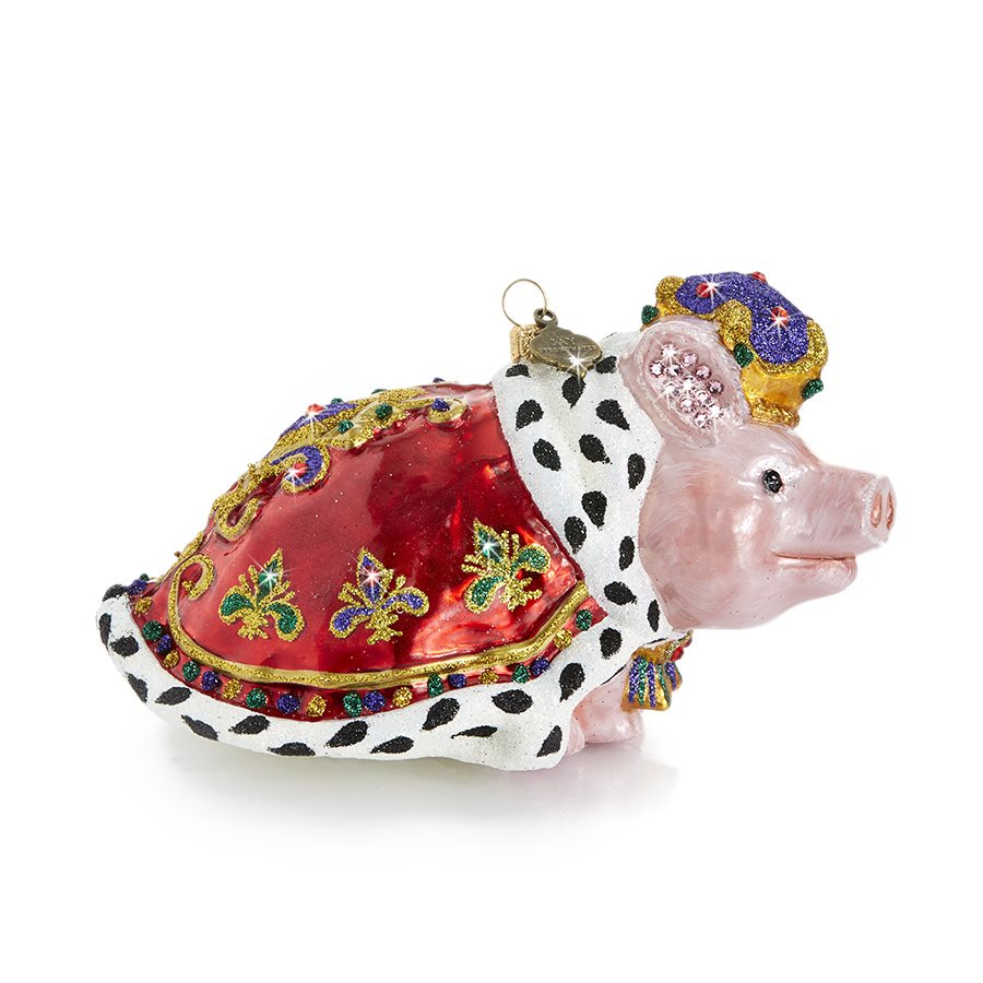 Jay Strongwater Royal Piggy Glass Ornament SDH20015-250