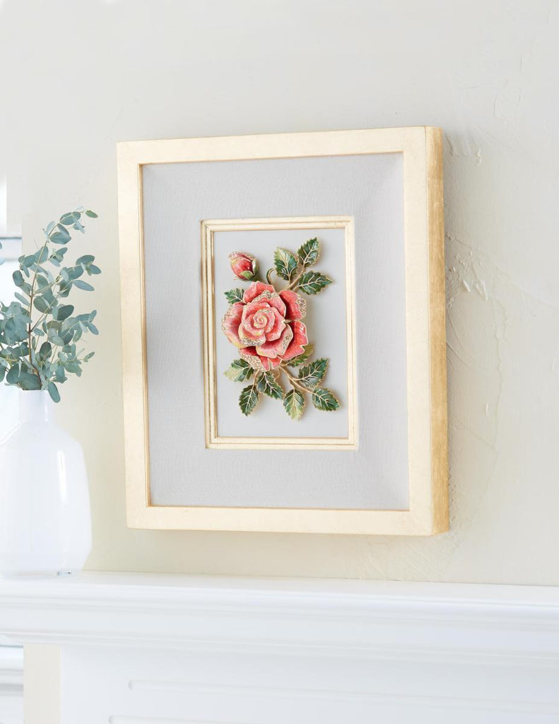 Jay Strongwater Sibylla Rose Wall Art SHW3326-256