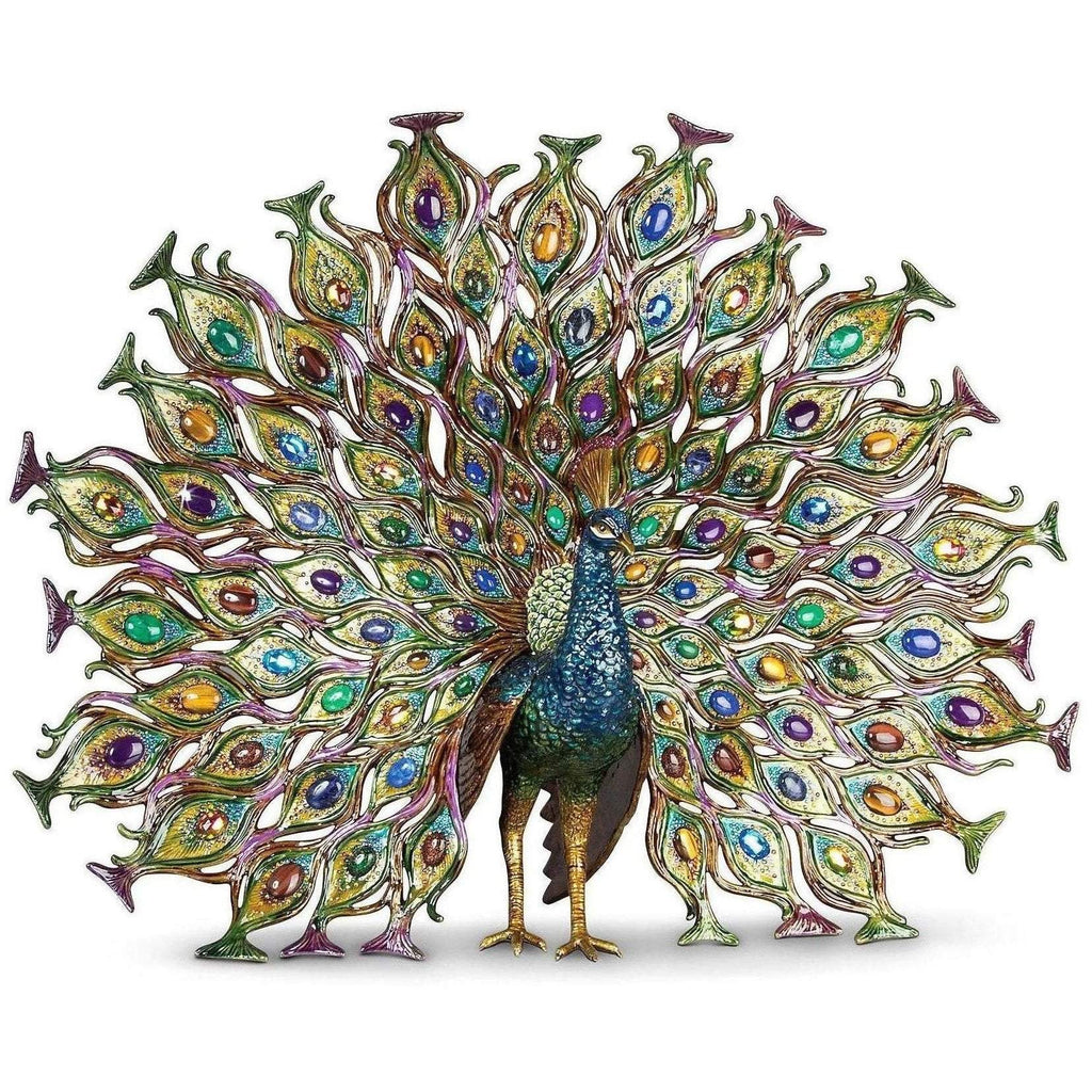 Jay Strongwater Stanton Fan Tail Peacock Figurine SDH1830-408