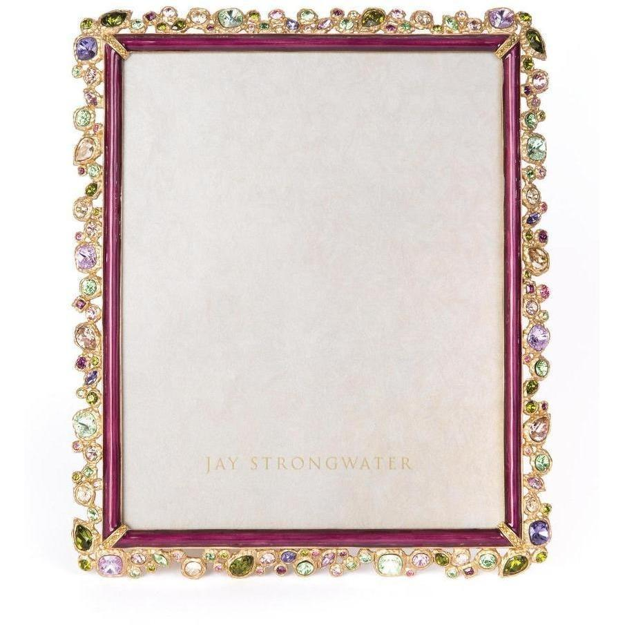 "Jay Strongwater Theo Bejeweled 8"" x 10"" Frame Bouquet SPF5843-289"
