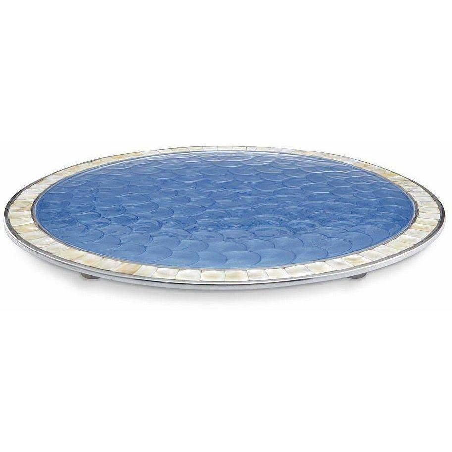 "Julia Knight Classic 15"" Round Cheese Tray Azure 5960036"