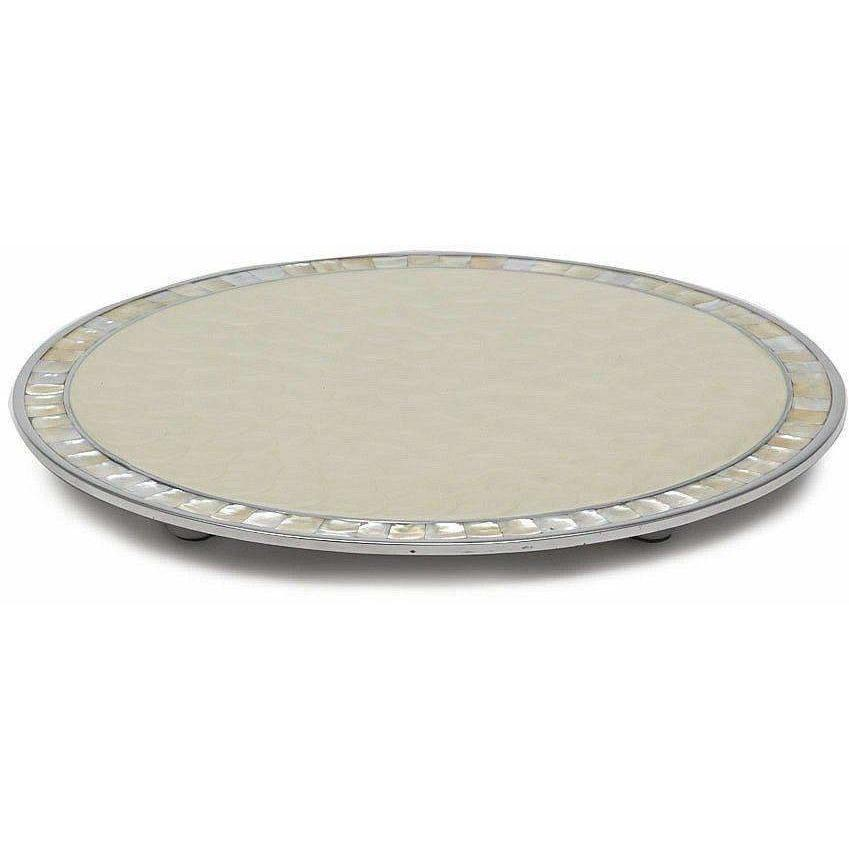 "Julia Knight Classic 15"" Round Cheese Tray Snow 5960015"