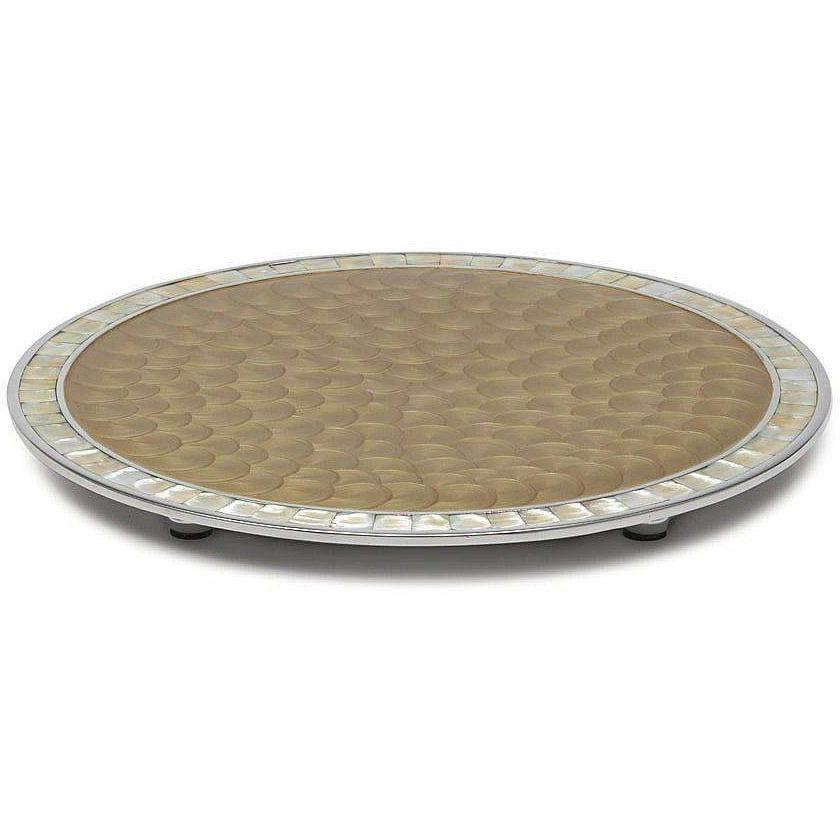 "Julia Knight Classic 15"" Round Cheese Tray Toffee 5960030"
